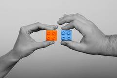 Cooperazione - cubi Fotografia Stock