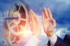 Cooperazione e lavoro di squadra nell'affare immagini stock libere da diritti