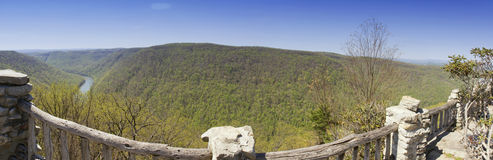 Coopers Rock State Forest panorama Stock Photo