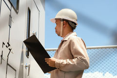 Coordenador adulto do construtor do eletricista Imagens de Stock Royalty Free