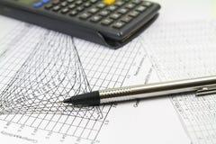 Coordenador Calculations Graphics Fotografia de Stock Royalty Free