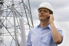 Coordenador com telefone móvel Fotografia de Stock Royalty Free