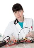 Coordenador de computador fêmea do apoio Imagem de Stock Royalty Free