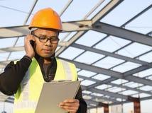 Coordenador de construção Imagem de Stock