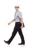 Coordenador de passeio com uma tabuleta digital Imagens de Stock