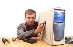 Coordenador de sustentação do computador foto de stock