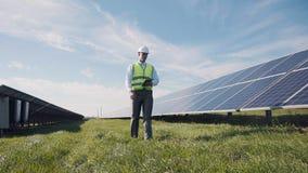 Coordenador e painéis solares Foto de Stock