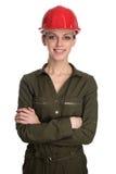 Coordenador fêmea bonito isolado no branco fotos de stock
