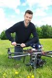 Coordenador Fixing Propeller Of Octocopter imagens de stock