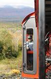 Coordenador na locomotiva Railway de roda denteada Fotografia de Stock Royalty Free