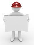 Coordenador no capacete no fundo branco Foto de Stock Royalty Free