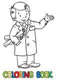 Coordenador ou inventor engraçado ilustração royalty free