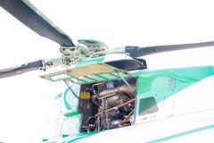 Coordenador que mantém um motor do helicóptero Imagens de Stock Royalty Free