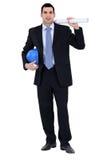 Coordenador que trabalha no local Imagem de Stock Royalty Free