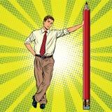 Coordenador retro com um lápis ilustração do vetor
