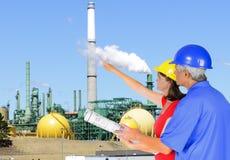 Coordenadores da indústria petroleira Fotografia de Stock