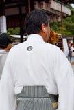Coordinador del desfile, Yasaka Jinja, Kyoto, Japón Fotos de archivo libres de regalías