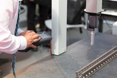 Coordinate-measuring machine (CMM) Stock Photo