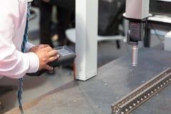 Coordinate-measuring machine (CMM) stock photo