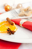 Coordinated decorative napkin Stock Photography