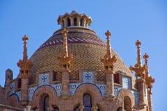 Coordonnée d'Hospital de la Santa Creu à Barcelone Image stock