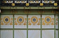 Coordonnée d'Otto Wagner Pavilon dans Wien Photographie stock libre de droits
