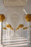 Coordonnée de cheik Zayed Mosque Photographie stock libre de droits
