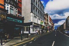 Coordonnée de Dame Street dans le secteur de barre de temple de Dublin Images libres de droits