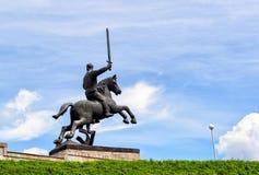 Coordonnée de Victory Monument dans Novgorod le grand Images stock