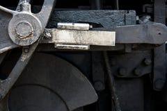 Coordonnée des mécanismes d'un train de machine à vapeur image stock