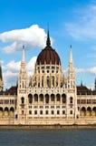 Coordonnée du Parlement hongrois à Budapest Images stock