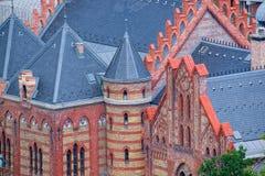 Coordonnées architecturales de Buda Calvinist Church à Budapest, Hongrie Photos libres de droits