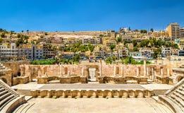 Coordonnées de Roman Theater à Amman Image libre de droits