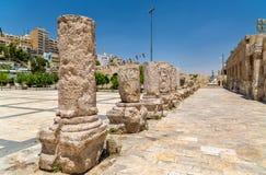 Coordonnées de Roman Theater à Amman Photographie stock libre de droits
