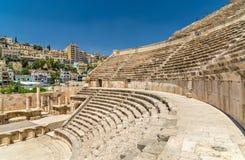 Coordonnées de Roman Theater à Amman Photographie stock
