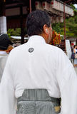 Coordonnateur de défilé, Yasaka Jinja, Kyoto, Japon Photos libres de droits