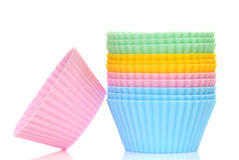 Coorful cupcake liners Stock Photo