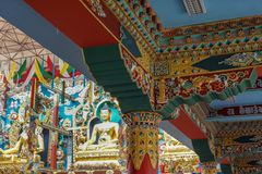 The Buddha Vihara of Namdroling Buddhist Monastery, Coorg India. Stock Image
