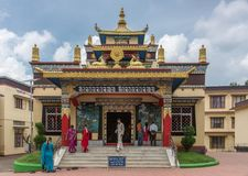 Tara shrine at Namdroling Buddhist Monastery, Coorg India. Royalty Free Stock Image