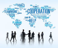 Coorperation Business Coworker Planning Teamwork Concept Royalty Free Stock Images