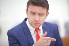 Coorporate employeer wybiera ciebie wskazywać palec Zdjęcia Royalty Free