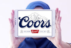 Coors banquet beer logo Stock Images