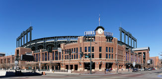 Coors Field. Denver, CO, USA - February 9, 2015: Coors Field in Denver, Colorado. Coors Field is a ballpark and the home field of Major League Baseball's Royalty Free Stock Image