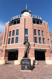 Coors Field - Denver, Colorado. This is a view of Coors Field, where the Colorado Rockies play major league baseball in Denver, Colorado royalty free stock image