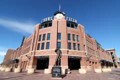Coors Field - Denver, Colorado. This is a view of Coors Field, where the Colorado Rockies play major league baseball in Denver, Colorado royalty free stock photography