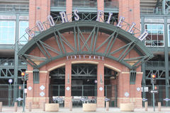 Coors Field - Denver, Colorado. This is a view of Coors Field, where the Colorado Rockies play major league baseball in Denver, Colorado stock photography