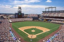 Coors Field, home of the Colorado Rockies Stock Photos