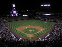 Coors Field Night Game - Colorado Rockies Stock Photo