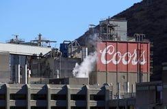 Coors guld- bryggeri Arkivfoto