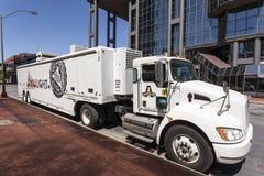 Coors Light啤酒卡车 免版税图库摄影